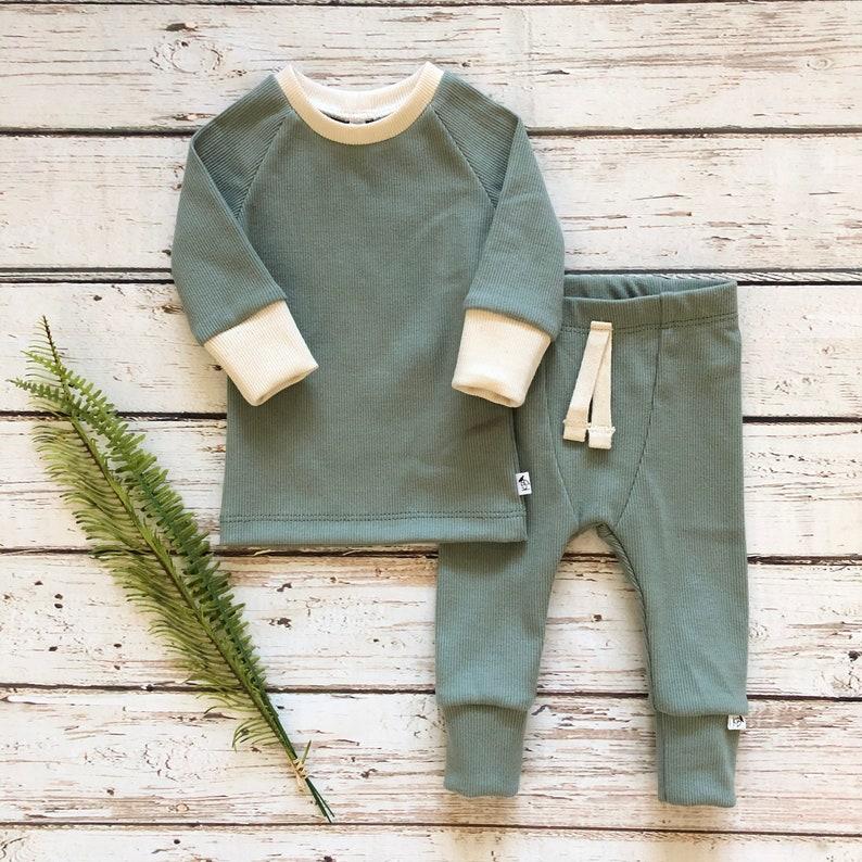 NEW \u201cWillow\u201d SetAspen StyleOrganicSLIM FITGender NeutralNewborn OutfitTake Home OutfitToddler Set