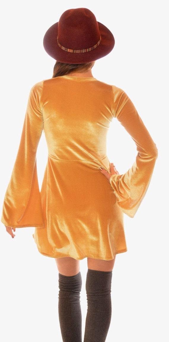 Hippie Made Order Dress Velvet Festival Dress Mini Sleeves to Wear Up Bohemian Bell Lace Skater Dress with 6qvSw