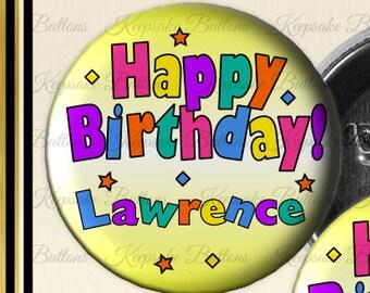 2 25 birthday girl button happy birthday pin birthday etsy