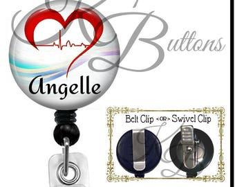 Cardiology Badge Reel, Custom Badge Reel, Retractable Badge Reel, Custom Medical Badge Reel, BRM09
