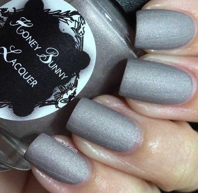 Rearviewmirror Matte Nail Polish Matte Gray 5 Free Handmade Indie Nail Polish Gray Nail Polish Nails Manicure Makeup
