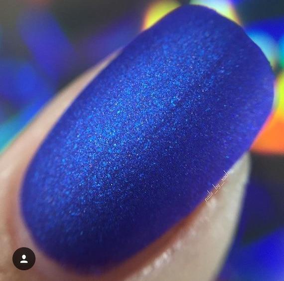 Computer Blue matte nail polish matte blue 5 free | Etsy