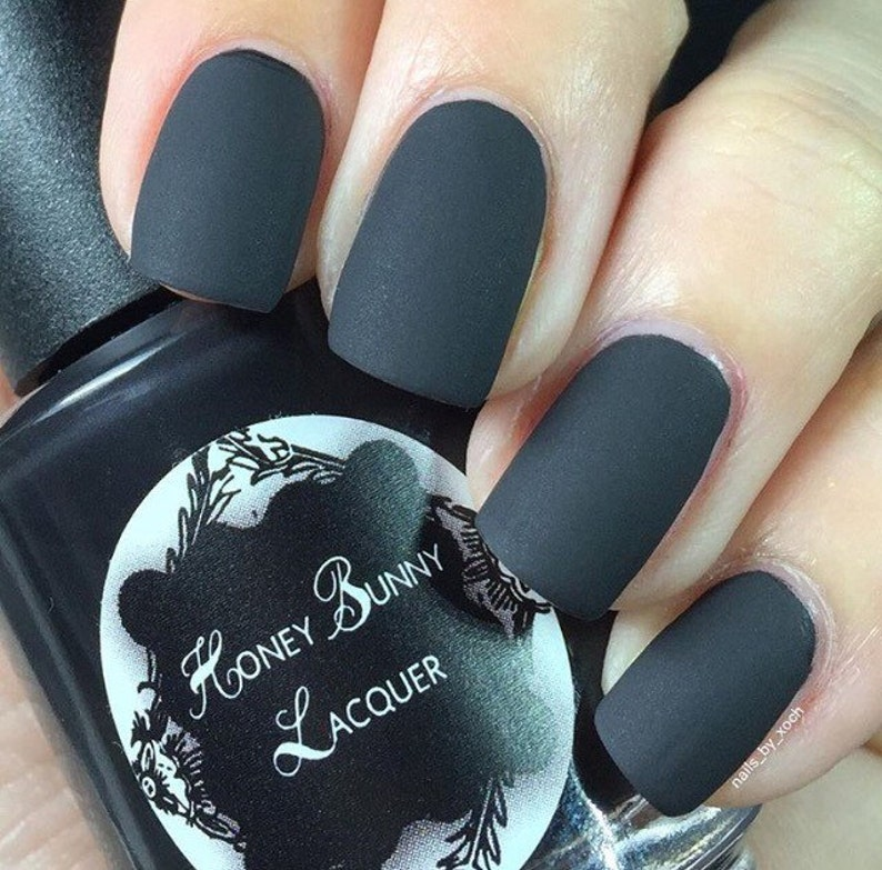For Whom the Bell Tolls matte nail polish matte black 5 | Etsy