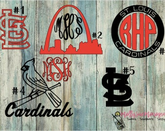 St. Louis Cardinals inspired vinyl decal