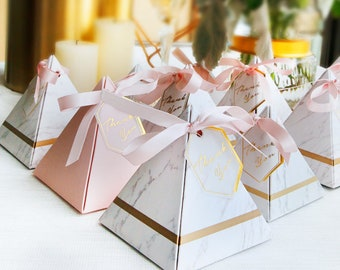 marble wedding favors chocolate boxes bridal shower favors baby shower favors thank you favors guest wedding favors 50 pcs or 100pcs