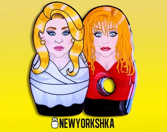 Death Becomes Her Meryl Streep Goldie Hawn Madeline Ashton Helen Sharp Dolls Pin...and Magnet