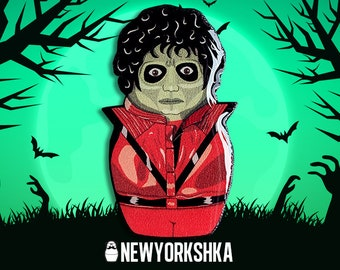 Michael Jackson Thriller Zombie Doll Pin......and Magnet ...and Masksessories