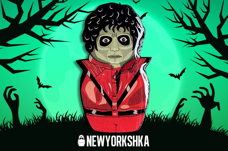 Michael Jackson Thriller Zombie Doll Pin image 0
