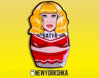 Katya Doll Pin ......and Magnet ..... and Masksessories
