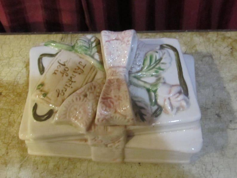 Thinking of You Ceramic Book KeepsakeTrinket Box