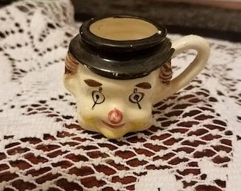 Ceramic clown mini cup