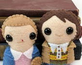 Stranger Things plushies - Eleven and Mike (made to order)