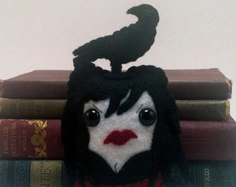 Pocket Morrigan - Iron Druid Chronicles plushie (made to order)