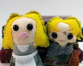 Farm Girl Buttercup and Farm Boy Wesley - The Princess Bride plushies (made to order)