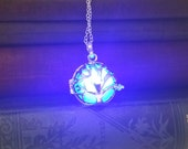 Flickering Spark Glowing Tree of Life Pendant Necklace