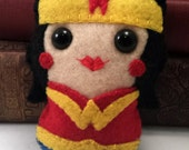 Wonder Woman  plushie - In Stock & ready to Ship! (made to order)