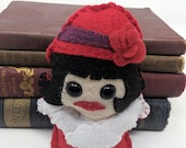 Phryne Fisher  - Miss Fisher's Murder Mysteries plushie  (made to order)