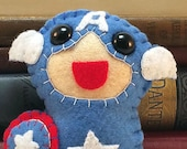 Captain America plushie (made to order)