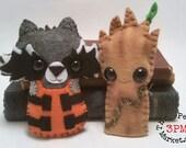 Rocket Raccoon & Guardian Tree Man plushies (made to order)