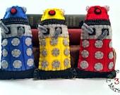 Daleks Set of three - Dr Who plushie (made to order)