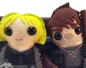 Harry Dresden and Karrin Murphy - Dresden Files plushies (made to order)