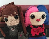 Harry Dresden and Molly Carpenter - Dresden Files plushies (made to order)