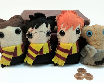 Harry Potter Hogwarts plushies (made to order)