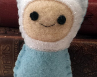 Finn the Human Adventure Time plushie (made to order)