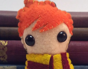 Ron Weasley Hogwarts/Harry Potter plushie (made to order)