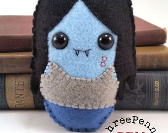 Marceline the Vampire Queen Adventure Time plushie (made to order)
