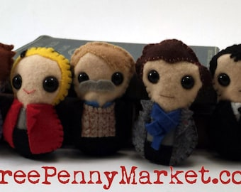 Sherlock plushies (made to order)