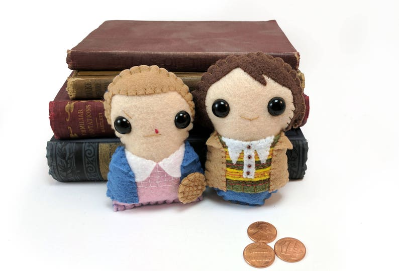 Stranger Things plushies  Eleven and Mike made to order image 0