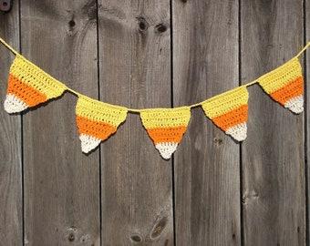 Candy Corn Crochet Banners, Candy Corn,Halloween Candy Corn Buntings, Fall Banners