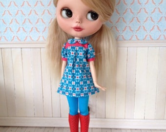blythe dress retro mod, matching panty availlable, also fits pure neemo S