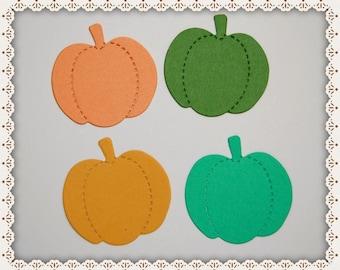 Set of 16 Pumpkin Die Cuts, Small Pumpkins, Die Cuts, Paper Die Cuts, Paper Crafts, Card Making, Scrapbooking, Pumpkin