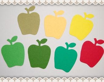 Set of 16 Apple Die Cuts, Small Apple Die Cuts, Die Cuts, Paper Die Cuts, Paper Crafts, Card Making, Scrapbooking, Apple