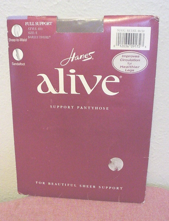 fb8cee722e4 Vintage NIP Dead Stock Hanes Alive Support Pantyhouse Full