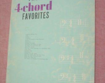 VTG Twenty 4-Chord Favorites for All Organs Soundpost Inc Sheet Music Catch a Falling Star Jealous Ramblin Rose Where The Boys Are EUC BIN