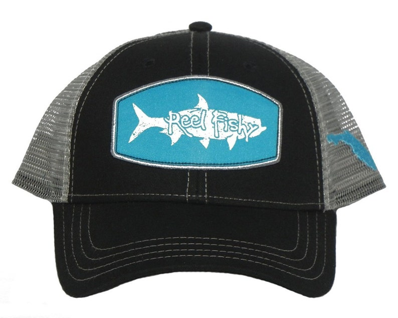 e856643c8be5e Tarpon Fishing Hat Snapback Trucker Cap Tarpon Patch Reel