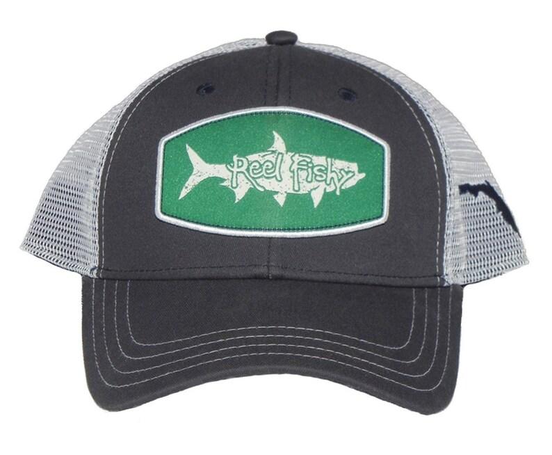 cad1810bf2913 Tarpon Fishing Hat Snapback Trucker Cap Tarpon Patch Reel