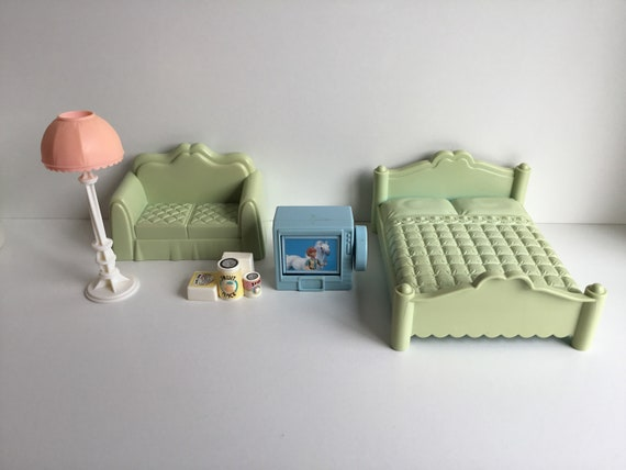 Vintage Playskool Dollhouse Furniture Accessory Lot Etsy