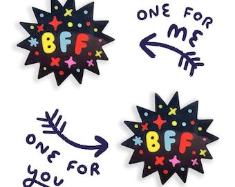BFF Best Friends Enamel Pin Set