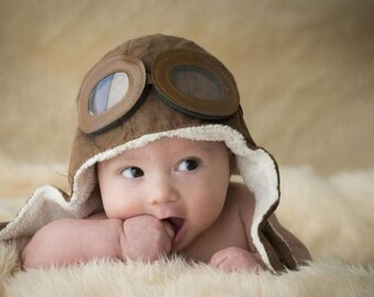 Pilot Hat Baby Pilot Cap Baby Pilot Hat Crochet Aviator Hat Aviator Hat Infant Aviator Hat Baby Aviator Hat Aviator Goggles