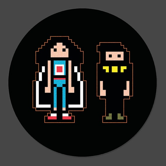 Pixel Art Logo 3 Inch Button Official Ninja Sex Party Merch