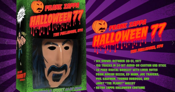 Frank Zappa Halloween 77 Box! Includes an original sketch by the designers  of the mask!
