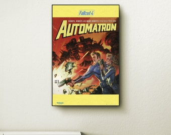 Fallout 4 Automatron wall art. Choose either a canvas, float frame, or modern frame