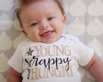 Young Scrappy and Hungry Infant Bodysuit | Hamilton Shirt | Southern Sweetheart Gifts