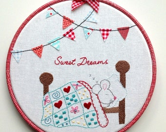 hand embroidery pattern, PDF digital download