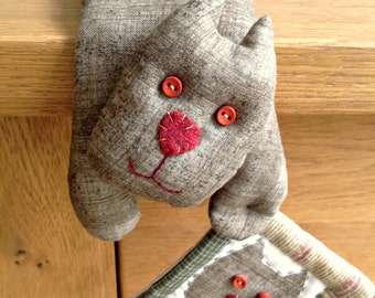 Animal sewing pattern for dog, cat, sheep, pig and frog