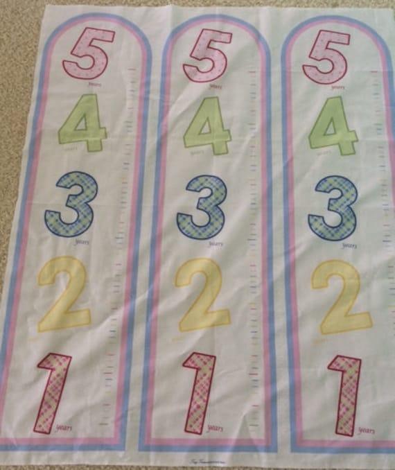 Tiny Treasures By Rjr Fabrics Growth Chart Fabric Panel Etsy